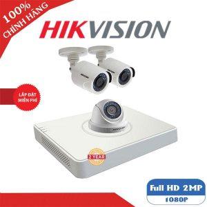 lắp đặt trọn bộ 3 camera giám sát hikvision