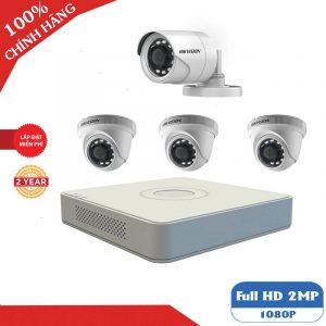 lắp đặt trọn bộ 4 camera giám sát hikvision