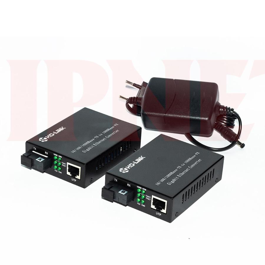 Bộ chuyển đổi quang điện 10 100 1000 mbps Holink-HL-2111S-20A-B-1