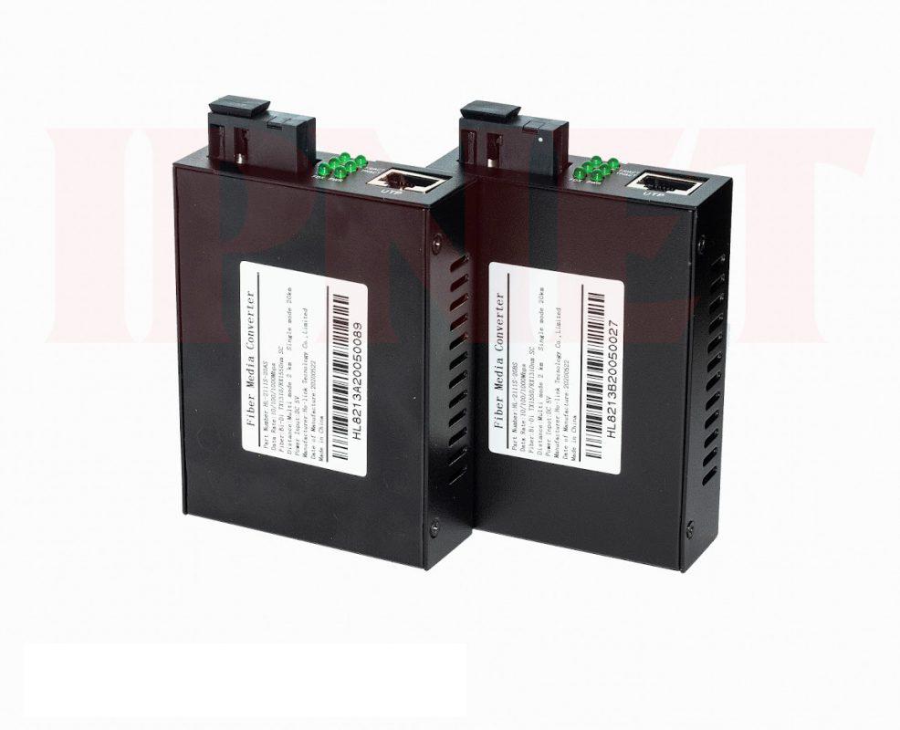 Bộ chuyển đổi quang điện 10 100 1000 mbps Holink-HL-2111S-20A-B-3