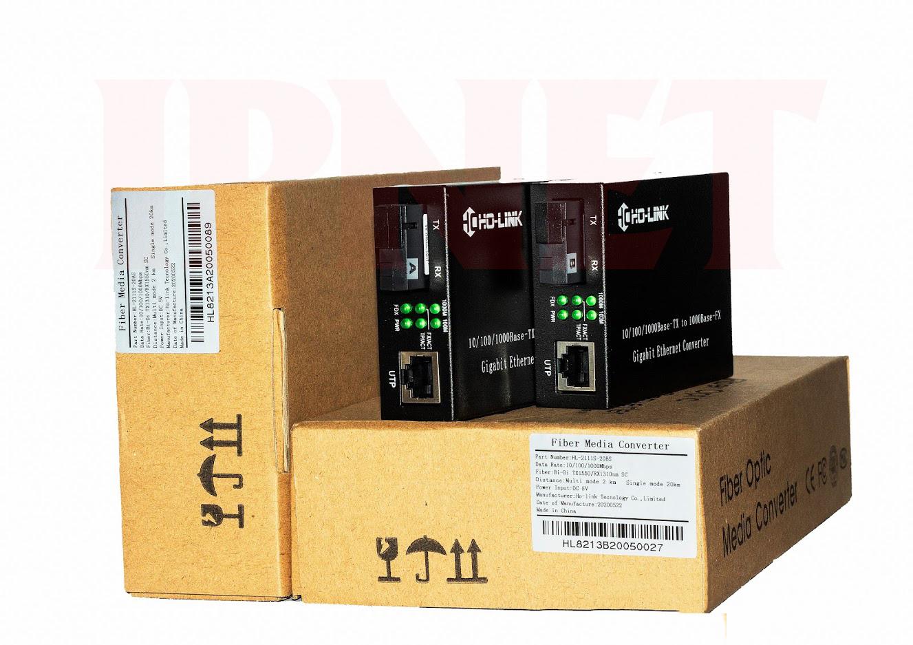 Bộ chuyển đổi quang điện 10 100 1000 mbpsHolink-HL-2111S-20A-B-2