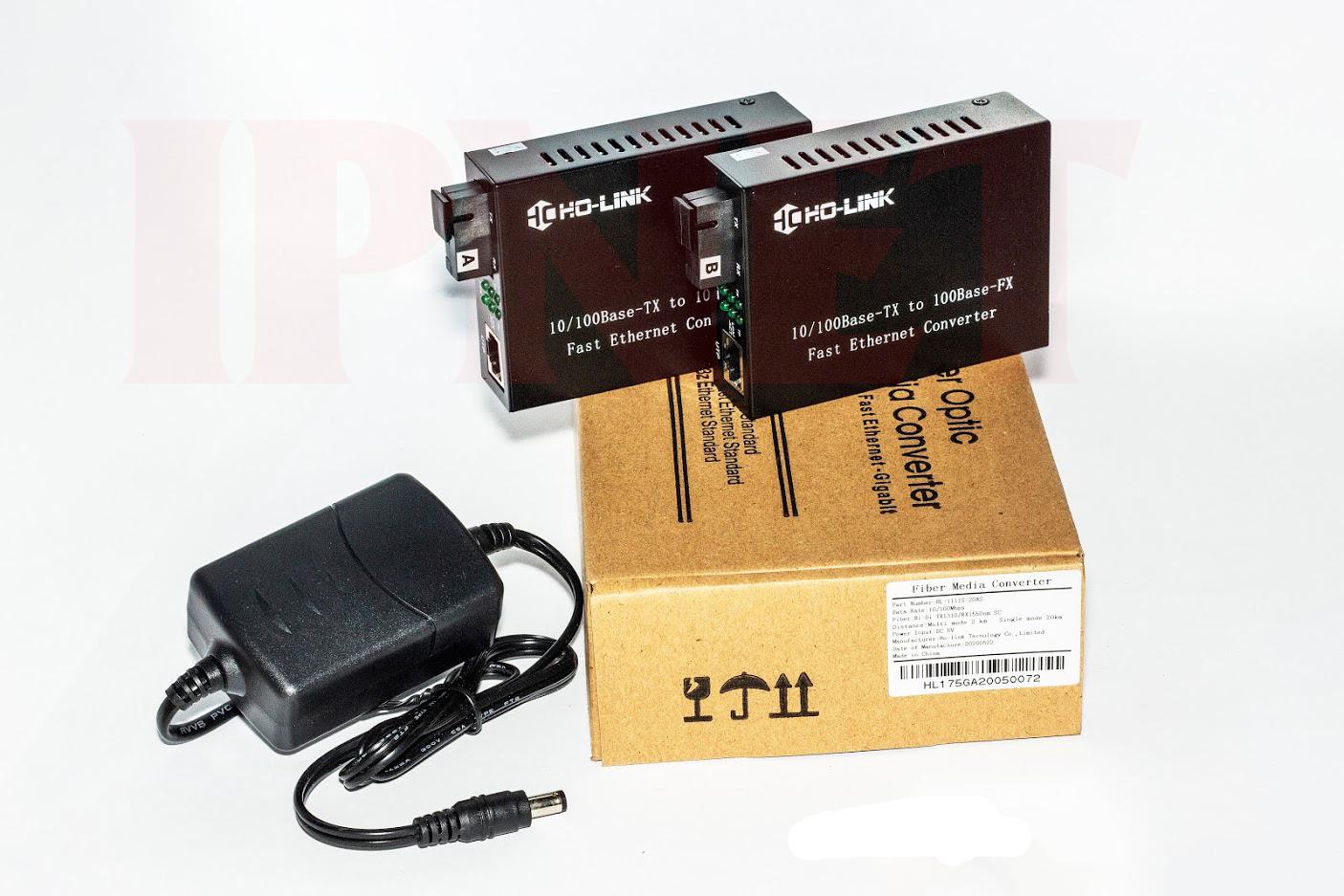 Bộ chuyển đổi quang điện 10 100 mbps Holink-HL-2111S-20A-B-2