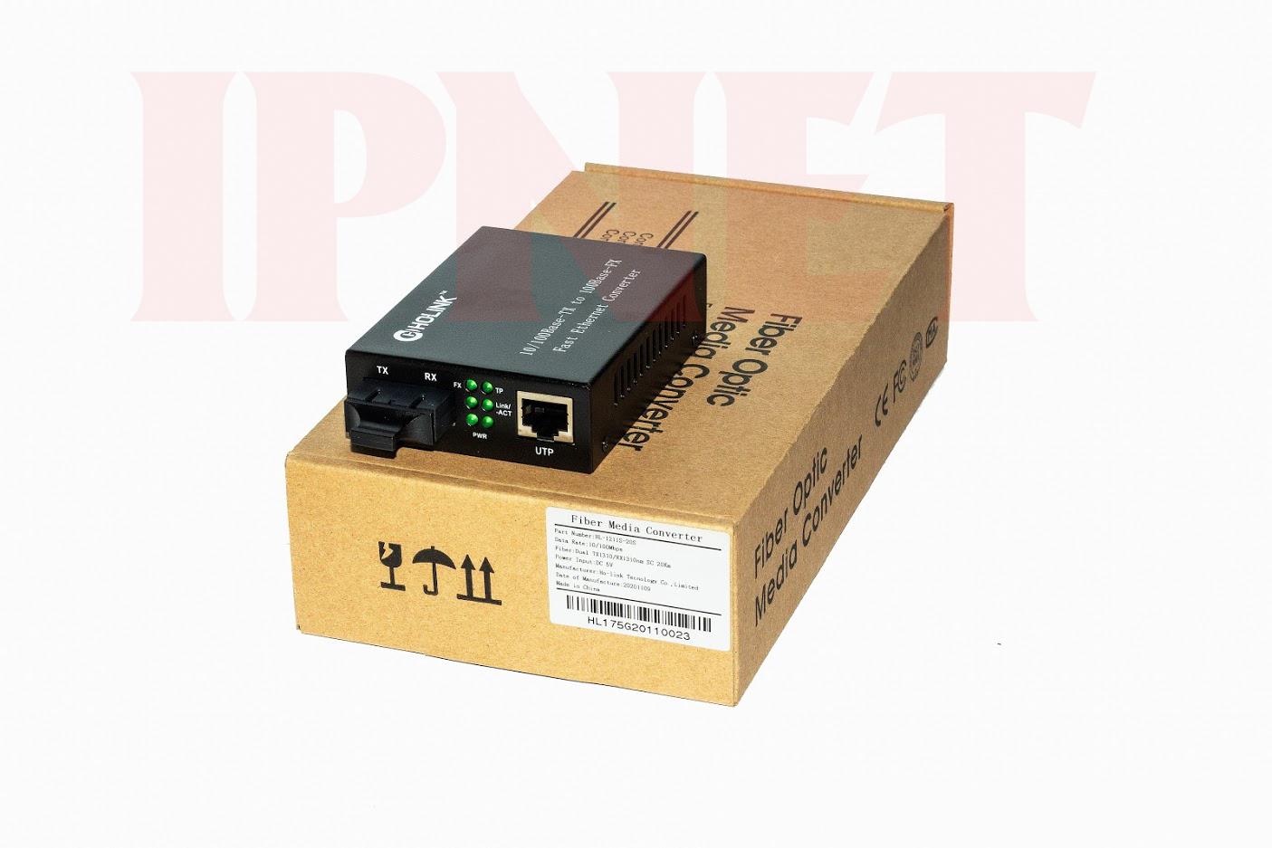 Bộ chuyển đổi quang điện 10 100Mps Holink HL-1211S-20 2
